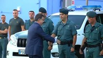 Despiden con honores a 29 agentes de la Guardia Civil que parten hacia Catalunya