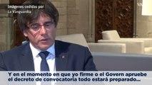 Puigdemont confirma que las urnas están preparadas