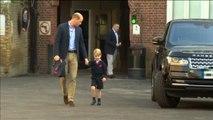 El príncipe Jorge de Reino Unido acude a su primer día de escuela