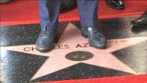 Charles Aznavour recibe su estrella en el Paseo de la Fama de Hollywood