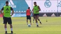 Último entrenamiento del Real Madrid antes de viajar a Skopie