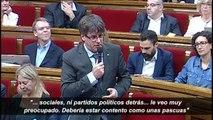 """Puigdemont sobre que Junqueras es el organizador del referéndum: """"Claro que tiene ese encargo y que lo está haciendo"""""""