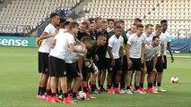 Los alemanes preparan la final del Europeo que disputan este viernes frente a la Sub-21 de Celades