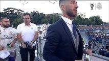 El Real Madrid ofrece en La Cibeles la duodécima Copa de Europa