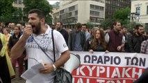 Grecia en huelga por nuevos recortes de sueldos y pensiones