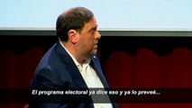 Junqueras defiende declarar la independencia si no se celebra el referéndum