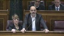 Los diputados nacionalistas y de Podemos abandonan el hemiciclo