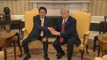 Donald Trump se reunía con el Primer Ministro japonés Shinzo Abe