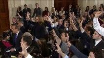 Esperpéntica rueda de prensa de Trump en la que declara la guerra a la prensa