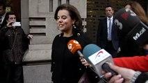 """Junqueras, tras su reunión con la vicepresidenta: """"Se va convencida de que habrá referéndum"""""""