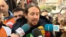 """Pablo Iglesias: """"Es evidente que a Pedro Sánchez le quitaron del medio por razones obvias"""""""