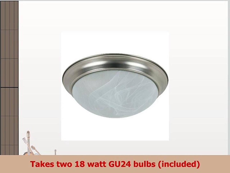 Sunlite DBN16ALGU24ES 16Inch Energy Saving Dome Ceiling Fixture Polished Brass Finish