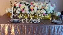 DIY-Wedding table decor DIY - bling decor DIY- floral decor DIY-long table decor Part 1