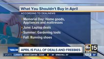 Best things to buy and avoid in April
