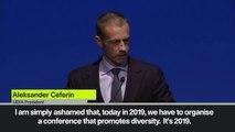 (Subtitled) UEFA President Ceferin 'ashamed' by recent high-profile incidents of racism