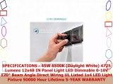 Luxrite LED Light Panel 1x4 FT 45W 6500K Daylight White 4725 Lumens 12x48 Inch LED Flat