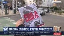 """Grand débat: des nationalistes corses appellent à une opération """"île morte"""" pour la venue d'Emmanuel Macron"""