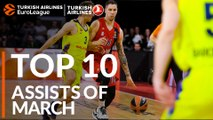 Turkish Airlines EuroLeague, Top 10 Assists of March