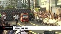 Usain Bolt contre un taxi moto au Pérou !