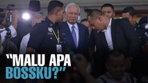 NEWS: Najib leaves amid cheers of Malu Apa Bossku?