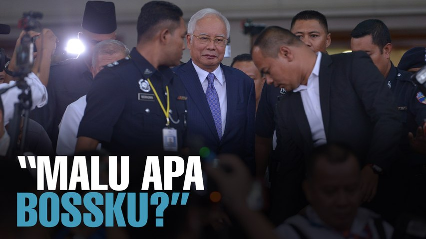 NEWS: Najib leaves amid cheers of Malu Apa Bossku?