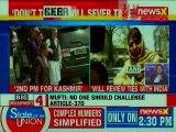 Mehbooba Mufti threatenes to break Jammu & Kashmir's ties with India; Article 370