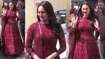 Sonakshi Sinha looks beautiful in anarkali at Kalank Trailer Launch;Watch video | FilmiBeat