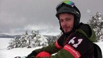 Cıbıltepe'de baharda kayak keyfi - KARS