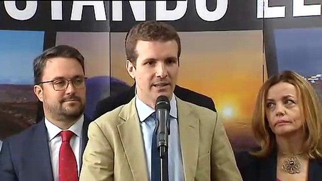 """Casado: """"No creo que España merezca un Gobierno que dependa de un grupo parlamentario que aún no ha condenado los asesinatos de ETA"""""""