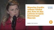 Blanche Gardin refuse l'Ordre des Arts et des Lettres et tacle Emmanuel Macron