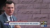 Witness interviews released in David Stringer case