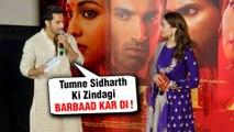 Alia Bhatt IRRITATED REACTION On Breakup With Sidharth | Varun Teases Alia At Kalank Trailer Launch