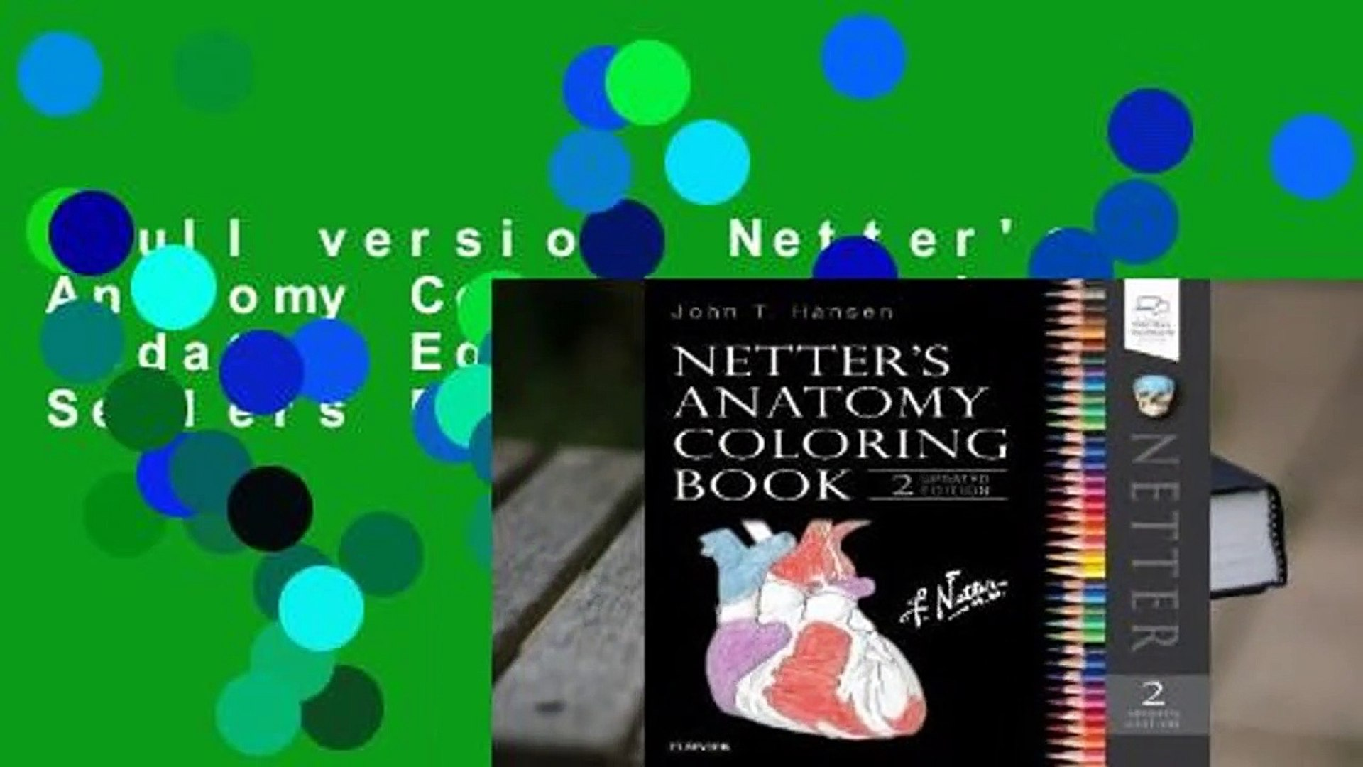 Full Version Netter S Anatomy Coloring Book Updated Edition Best Sellers Rank 1 Video Dailymotion