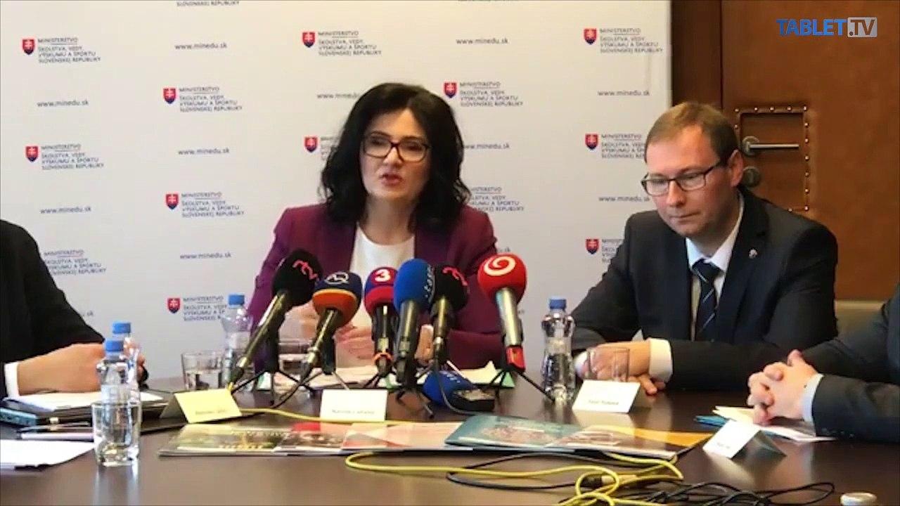 ZÁZNAM: TK ministerky školstva Martiny Lubyovej