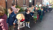 Saint Symphorien : Les enfants ont marché pour le climat.Video 4 Eric Ghislain