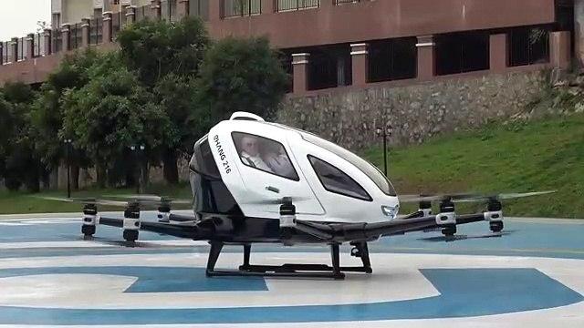 İnsan taşıyan drone Viyana'da ortaya çıktı!