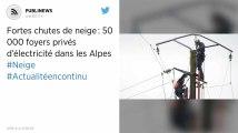 Fortes chutes de neige: 50000 foyers privés d'électricité dans les Alpes