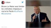 Les « retraites chapeaux » bientôt limitées à 30% du salaire du dirigeant, annonce Bruno Le Maire