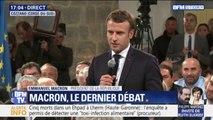 """Emmanuel Macron: """"Parfois on a trop tendance à dire que c'est celui qui est tout en haut qui est responsable de tout"""""""