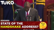 President Uhuru Kenyatta insists the handshake is there to stay during state of the nation address.