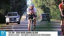 """Le défi fou du cycliste Stéven Le Hyaric contre la désertification : """"Poser des roues sur des univers qui ne sont pas fait pour un humain"""""""
