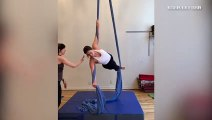 Ashley Graham's Aerial Yoga Skills Will Blow Your Mind