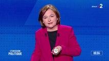 Tête de liste La République en Marche, Nathalie Loiseau présente un peu de piment d'Espelette, sauvé de la contrefaçon chinoise grâce à un label européen