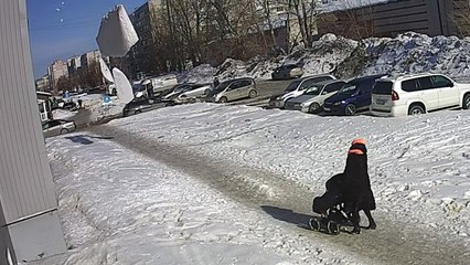Mother And Baby Almost Hit By Huge Lump Of Falling Snow