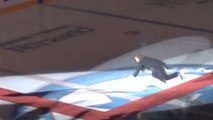 Skater Takes A Fall While Singing National Anthem