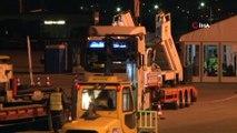 Atatürk Havalimanı'nda büyük taşınma başladı. Havalimanı apronunda yüklenen araçlar 03.00 itibariyle İstanbul Havalimanı'na doğru yola çıktı.
