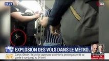 Les vols explosent dans le métro parisien et ces images montrent comment les pickpockets s'y prennent
