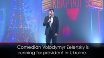 Comedian demands drug tests for Ukraine election
