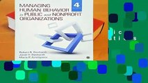Full E-book Managing Human Behavior in Public and Nonprofit Organizations  For Trial