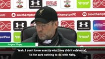 I don't know why they didn't celebrate with Keita - Klopp